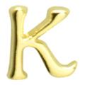 Putiel ネイルパーツ クラシックイニシャル K 3P