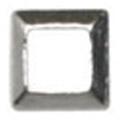 Jewelry-Nail LittlePretty LP-8020 3Dスタッズスクエア中抜き シルバー 2mm/50P