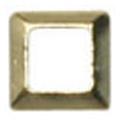 リトルプリティー Jewelry-Nail LP-8020 3Dスタッズスクエア中抜き ゴールド 2mm/50P