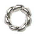 Pretty Nail Jewelry-Nail PN-0712 ツイストリング シルバーS 15P