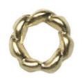Pretty Nail Jewelry-Nail PN-0712 ツイストリング ゴールドS 15P