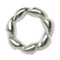 Jewelry-Nail PrettyNail PN-0713 ツイストリング シルバーM 12P