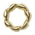 Pretty Nail Jewelry-Nail PN-0713 ツイストリング ゴールドM 12P