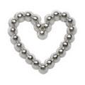 Pretty Nail Jewelry-Nail PN-0715 ブリオンハート シルバーS 15P