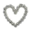 Jewelry-Nail PrettyNail PN-0716 ブリオンハート シルバーM 12P