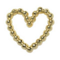 Pretty Nail Jewelry-Nail PN-0716 ブリオンハート ゴールドM 12P
