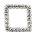 Jewelry-Nail PrettyNail PN-0730 ブリオンスクエア シルバーS 15P