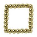 Pretty Nail Jewelry-Nail PN-0731 ブリオンスクエア ゴールドM 12P
