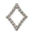 Pretty Nail Jewelry-Nail PN-0734 ブリオンキラキラ シルバーM 12P