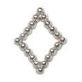 Jewelry-Nail PrettyNail PN-0734 ブリオンキラキラ シルバーM 12P