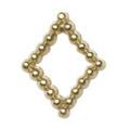 Pretty Nail Jewelry-Nail PN-0734 ブリオンキラキラ ゴールドM 12P