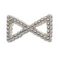 Pretty Nail Jewelry-Nail PN-0747 ブリオンリボン シルバーS 15P