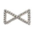 Pretty Nail Jewelry-Nail PN-0748 ブリオンリボン シルバーM 12P