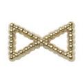Pretty Nail Jewelry-Nail PN-0748 ブリオンリボン ゴールドM 12P