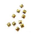 MysticFlakes メタルスタッズ スクエア 3mm ゴールド 50P