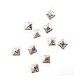 MysticFlakes メタルスタッズ スクエア 3mm シルバー 50P