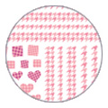 TSUMEKIRA 千鳥格子 ピンク NN-TEX-104