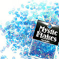 MysticFlakes オーロラブルー ミニハート 0.5g