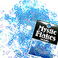 MysticFlakes オーロラブルー ハート&ムーン 0.5g