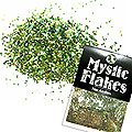 MysticFlakes オーロラグリーン サークル 1mm 0.5g
