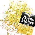 MysticFlakes オーロライエロー サークル 2mm 0.5g