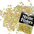 MysticFlakes ホロスパークゴールド ティアドロップ 0.5g