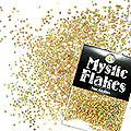 MysticFlakes ホロスパークゴールド ヘキサゴン 1mm 0.5g