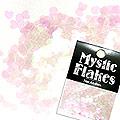MysticFlakes カメレオンクリアピンク ミニハート 0.5g