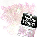 MysticFlakes カメレオンクリアピンク ハート&ムーン 0.5g