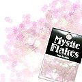 MysticFlakes カメレオンクリアピンク フラワー 0.5g