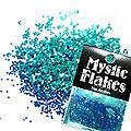 MysticFlakes カメレオンターコイズグリーン サークル 1mm 0.5g