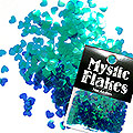MysticFlakes カメレオンターコイズグリーン ハート 0.5g