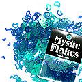 MysticFlakes カメレオンターコイズグリーン ハート&ムーン 0.5g