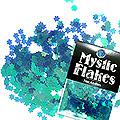 MysticFlakes カメレオンターコイズグリーン フラワー 0.5g