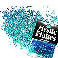 MysticFlakes カメレオンターコイズグリーン ヘキサゴン 1mm 0.5g