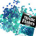 MysticFlakes カメレオンターコイズグリーン ヘキサゴン 2.5mm 0.5g