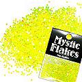 MysticFlakes ルミネイエロー ヘキサゴン 1mm 0.5g