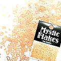 MysticFlakes ルミネオレンジ ハート&ムーン 0.5g