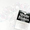 MysticFlakes パステルホワイト スター 0.5g