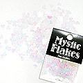 MysticFlakes パステルホワイト ハート 0.5g