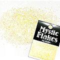 MysticFlakes パステルイエロー サークル 1mm 0.5g