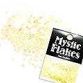 MysticFlakes パステルイエロー サークル 2mm 0.5g