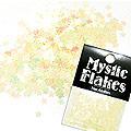 MysticFlakes パステルイエロー スター 0.5g
