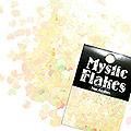 MysticFlakes パステルイエロー ミニハート 0.5g