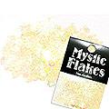 MysticFlakes パステルイエロー ハート&ムーン 0.5g