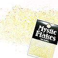 MysticFlakes パステルイエロー ヘキサゴン 1mm 0.5g