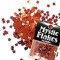 MysticFlakes メタリックレッド スター 0.5g
