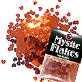 MysticFlakes メタリックレッド ミニハート 0.5g