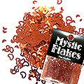 MysticFlakes メタリックレッド ハート&ムーン 0.5g