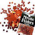 MysticFlakes メタリックレッド フラワー 0.5g